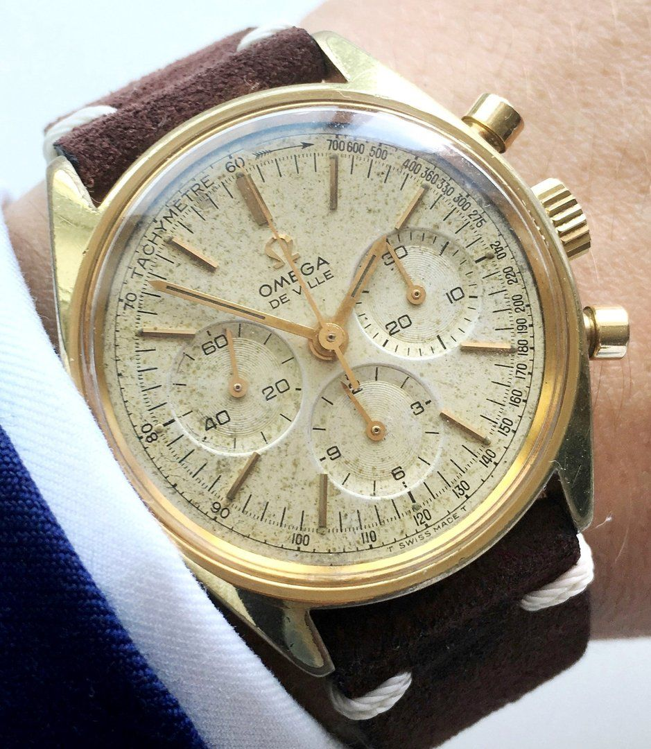Omega Vintage Chronograph Gold