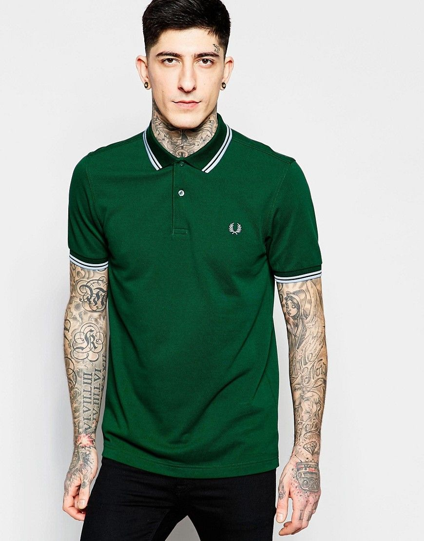Fred Perry Polo Shirt with Tipping Slim Fit at asos.com