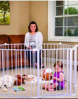 Baby Pet Dog Extra Su Wide Safety Metal Gate Playpen Indoor Outdoor Child Fence