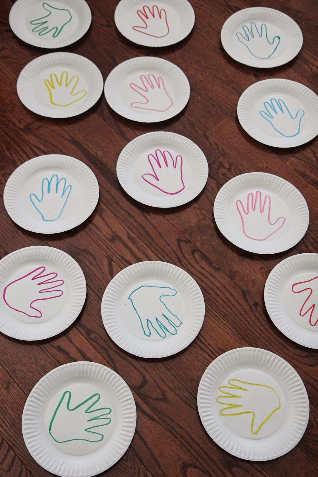 Handprint Color Matching Game {Virtual Book Club for Kids