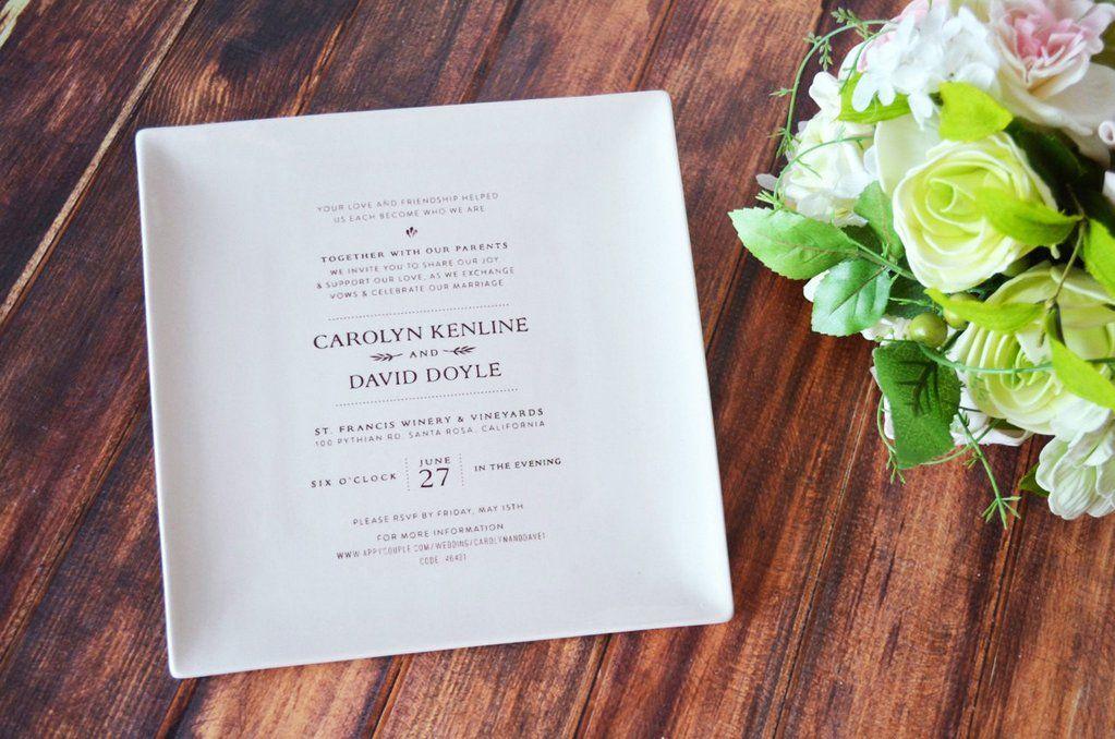 Personalized Wedding Gift Wedding Invitation Gift