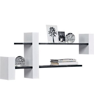 Buy extendable shelf unit black and white at argos