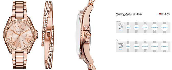 0a39c26250a1 Michael Kors Women s Kacie Stainless Steel Bracelet Watch   Bracelet Box Set  39mm MK3569 MK3568 MK3567