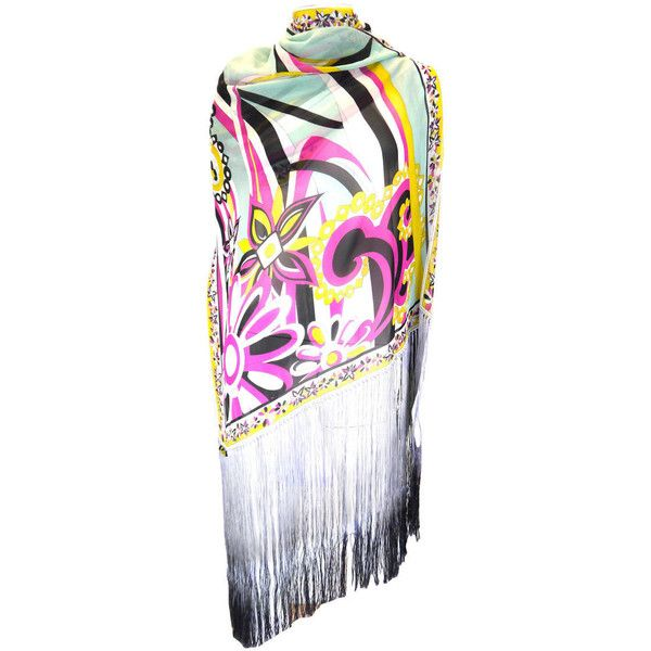 Pre-owned Emilio Pucci Silk Scarf / Shawl - 1970's (€900) ❤ liked on Polyvore