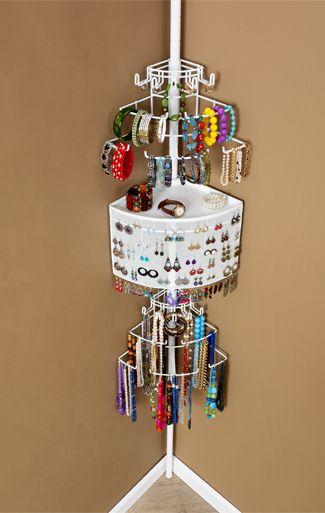 The Longstem Corner Jewelry Organizer Organization Pinterest