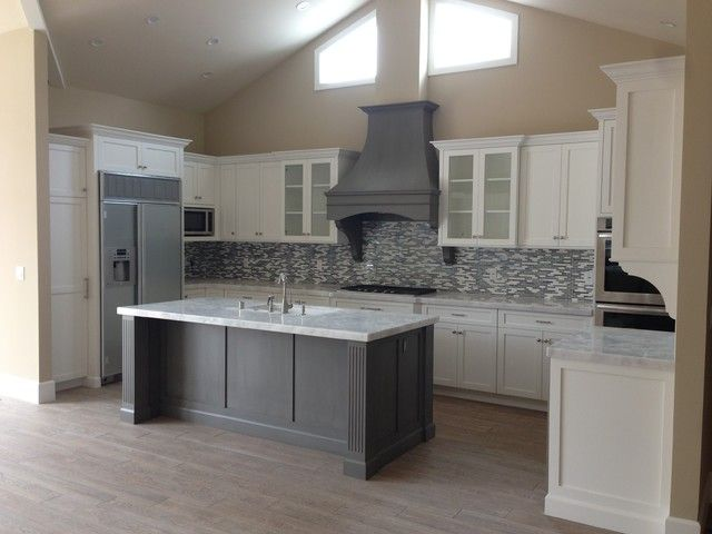 White Kitchen Grey Floor white shaker kitchen cabinets grey floor | ideas for the house