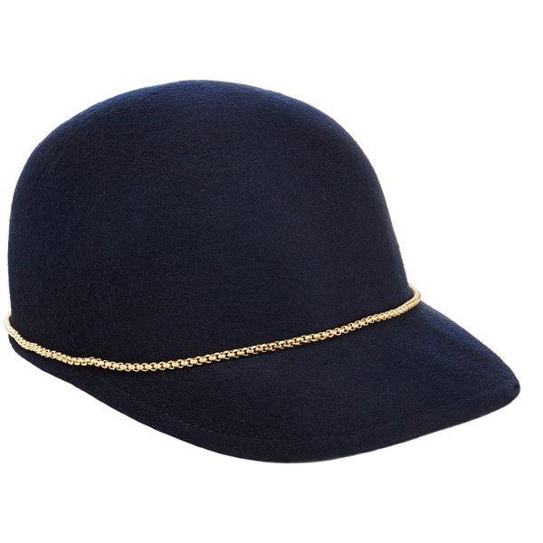 945cbeda65bca Eugenia Kim Joey Midnight Blue Brushed Wool-Felt Baseball Cap with... (