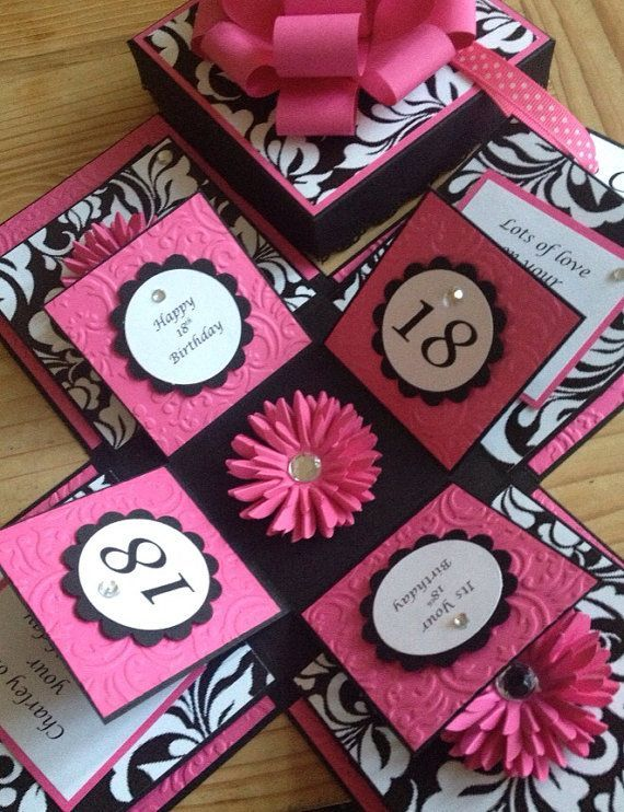 Handmade Exploding box card by be4Utifullyunique on Etsy – Birthday Card Boxes