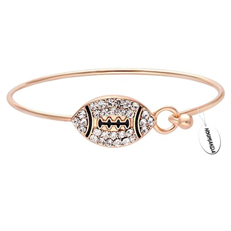 NOUMANDA Fashion Crystal Rugby Chain Bracelet Women Gift Friendship Bracelets RFQLpnaB