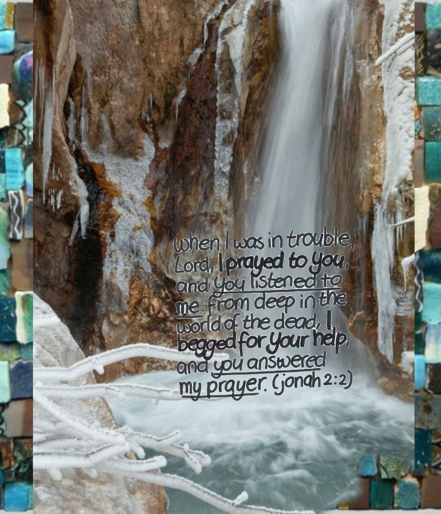 Jonah 2:2 - made by Dave L Walli with Bazaart #collage