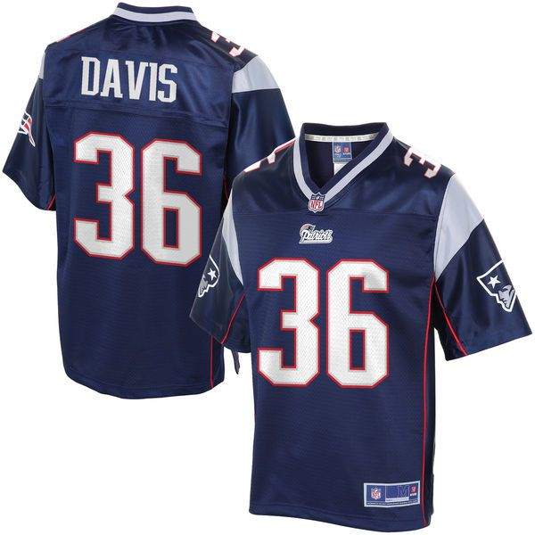 NFL Pro Line Men s New England Patriots Kanorris Davis Team Color Jersey -   99.99 595341d5b07