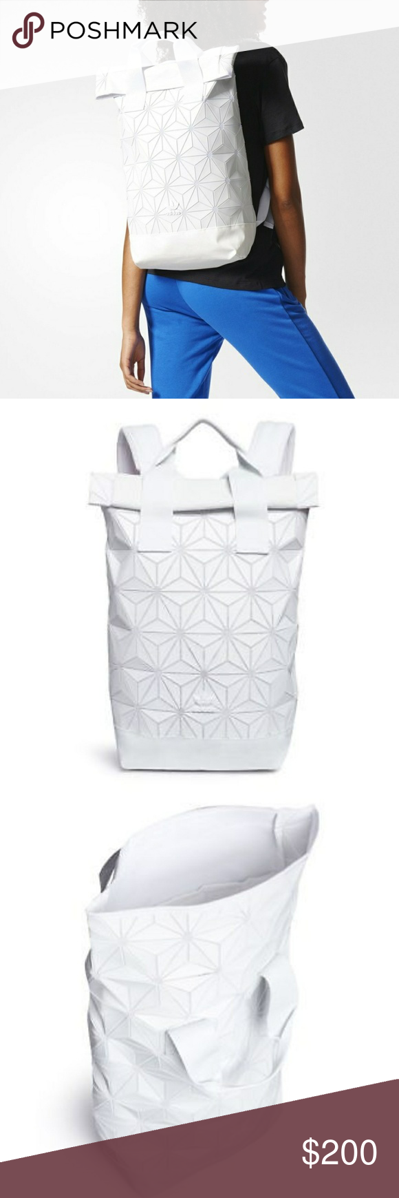 b9648aca6dda Adidas Originals issey miyake backpack Flash sale Selling for 200 on e8 y  Price is firm Adidas Originals X Issey Miyake 3D Roll Top Backpack (BJ9562).