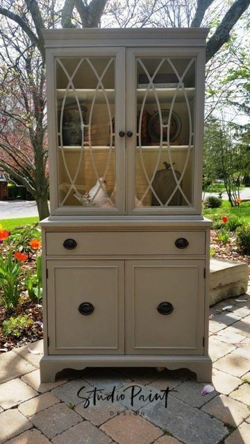 Painted Duncan Phyfe Hutch Cindi 3 Refurbished