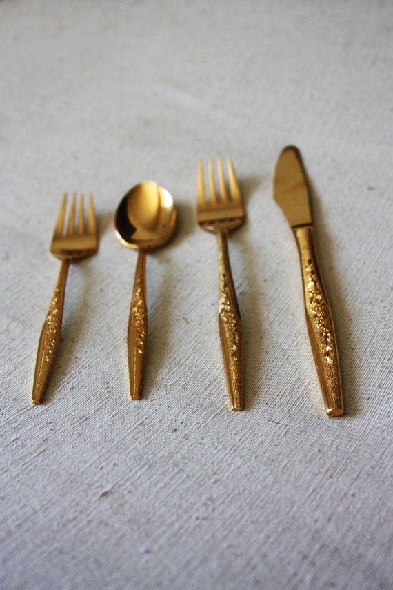 ebay find - Vintage Gold Flatware   wwwpinterest