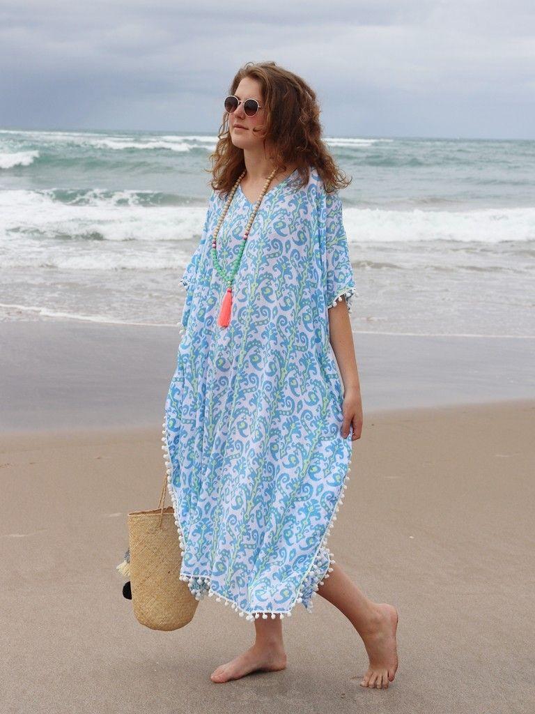 Beach Kaftan .. 3 colours available #Brightnewpenny #kaftans   Dresses,  Caftan dress, Beach caftan