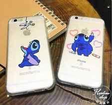 Cute Cartoon Stitch Transparent Soft Case For Cover For iPhone6 6Plus 6s 6sPlus