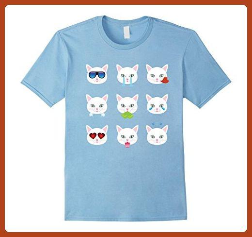 mens nine emoji cat emotion face funny t shirt gift small baby blue animal