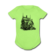 Baby Short Sleeve One Piece ~ Gingerbread House -