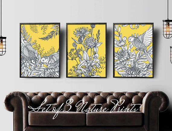 Yellow Wall Decoration Ideas