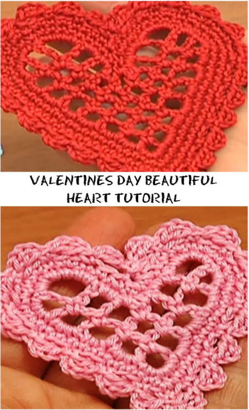 Valentines Day Beautiful Heart Tutorial | 24/7 Crochet