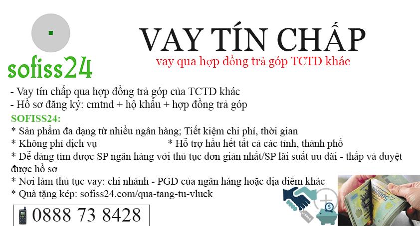 Vay qua hợp đồng trả góp TCTD khác