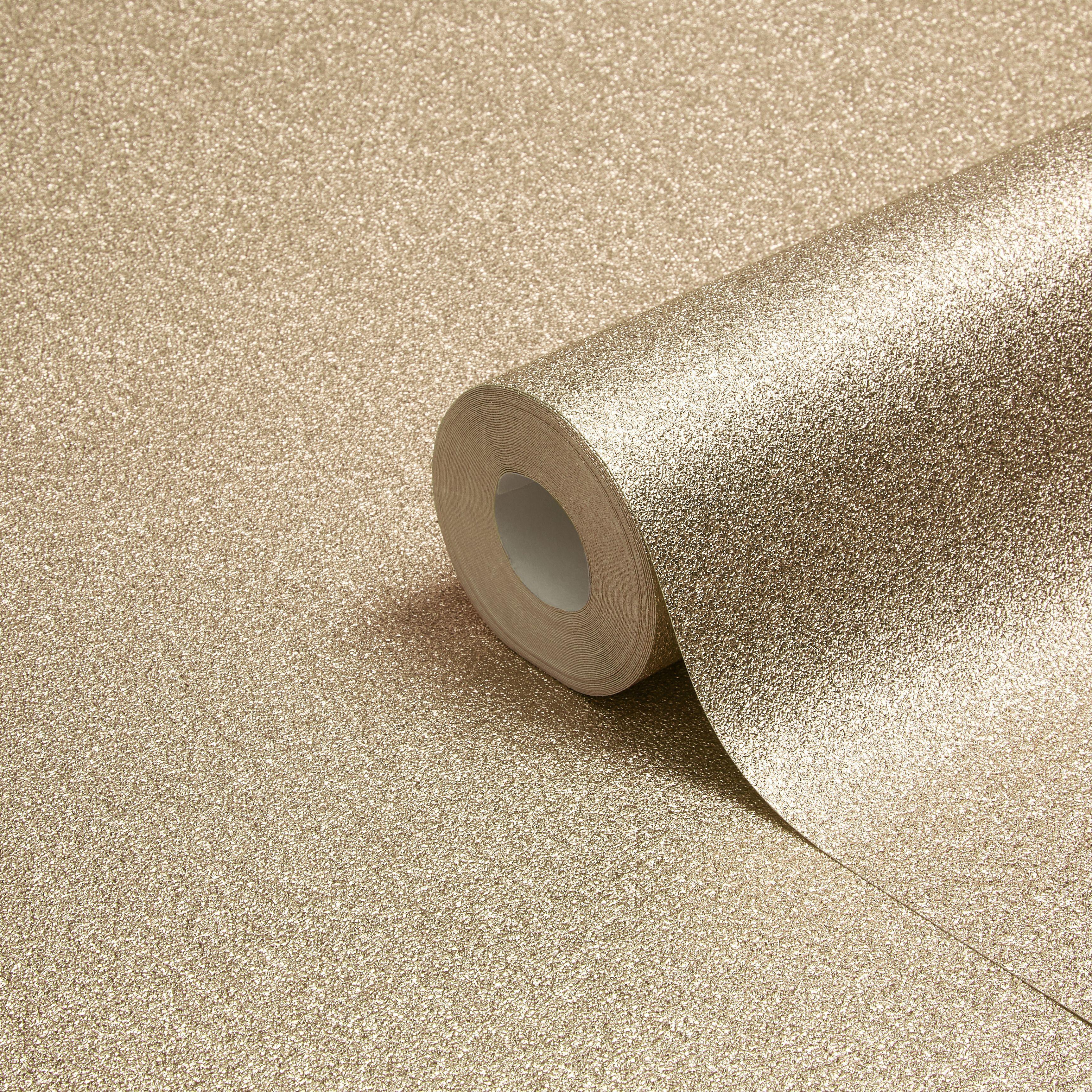Muriva Sparkle Gold Texture Metallic Glitter Wallpaper