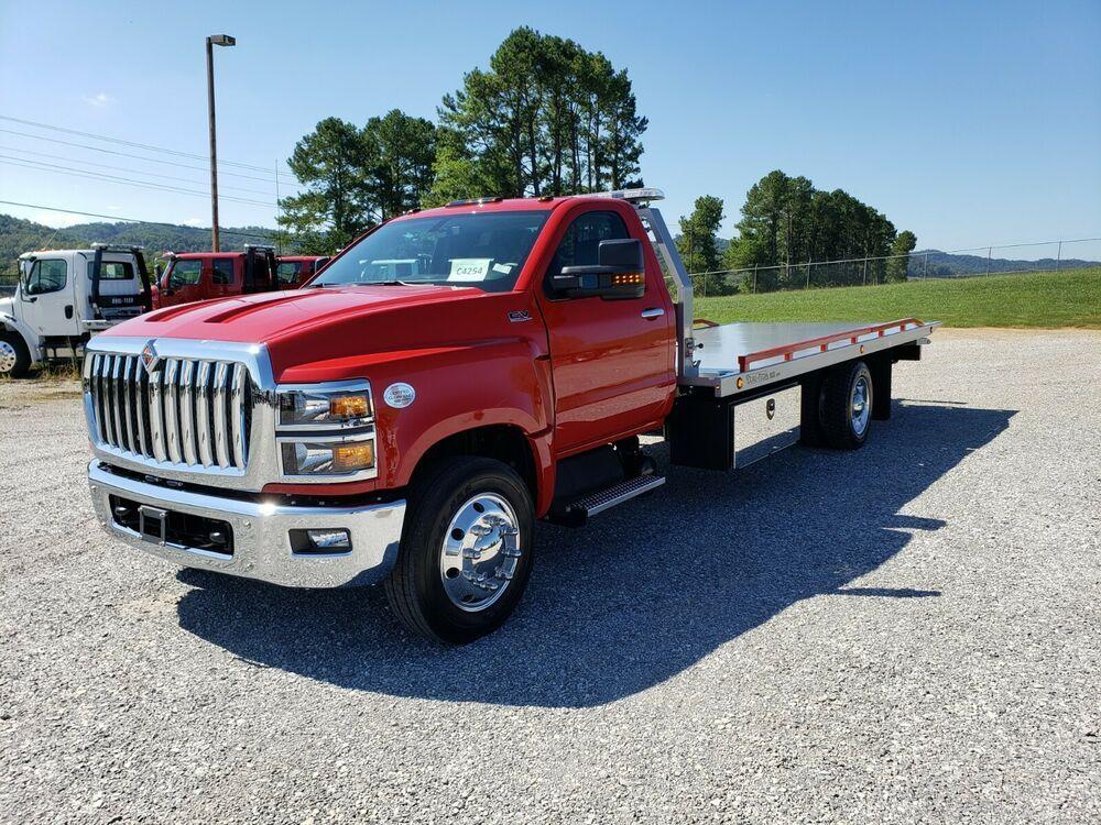 2019 International CV in 2020 Flatbed trailer, Flatbed