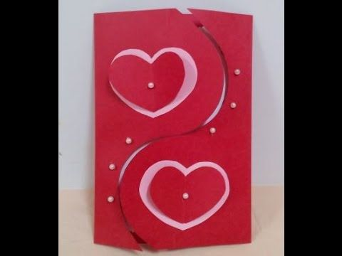 Paper Crafts How To Make A Beautiful Valentine S Day Heart Greeting Card Youtube Valentines Cards Card Design Handmade Valentines Card Design