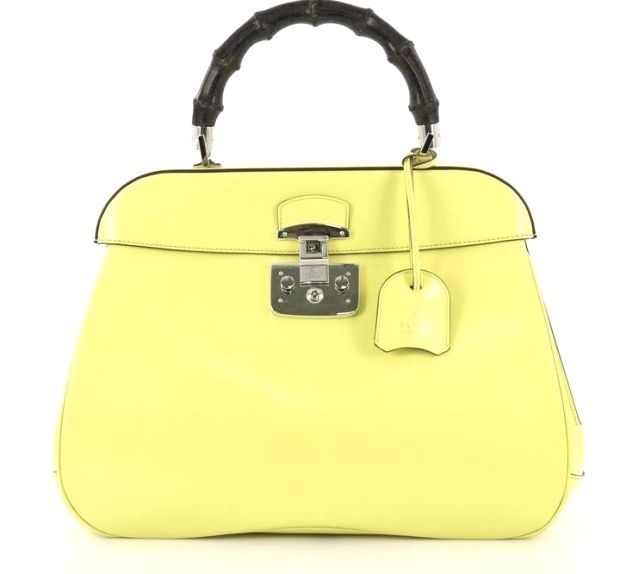 Gucci Lady Lock Yellow Leather Handbag