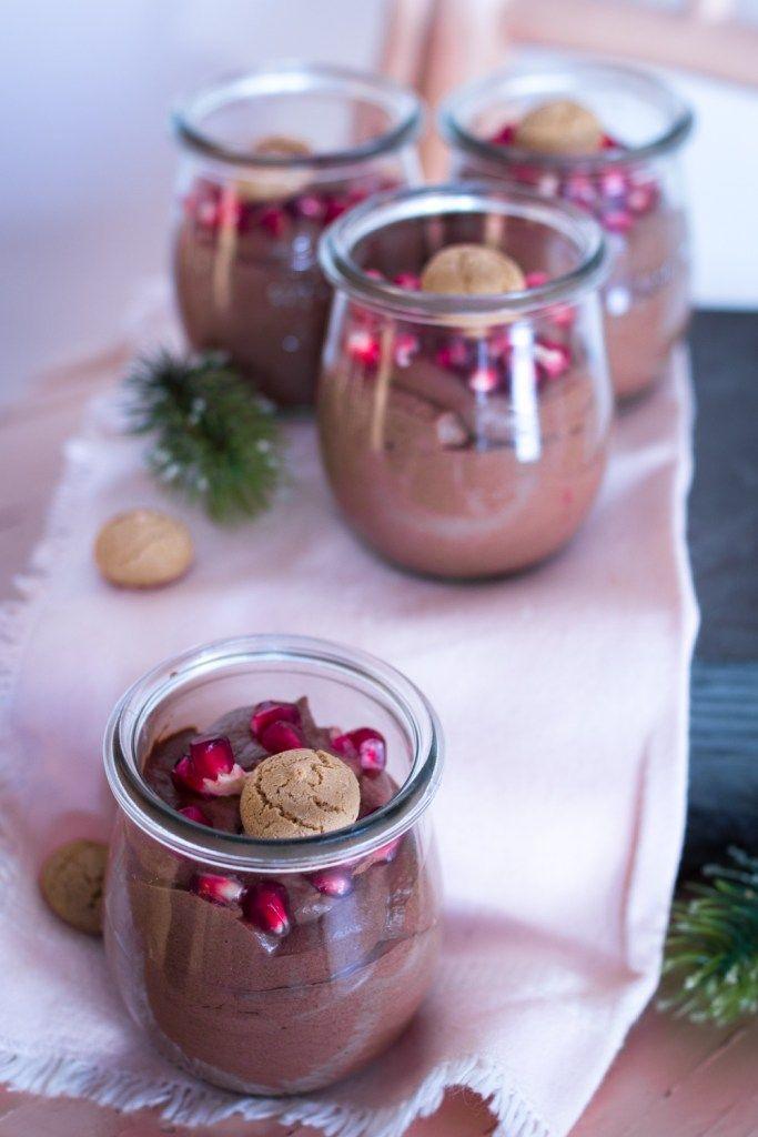 Weihnachtliches Dessert im Glas: Cremige Schoko-Creme #desserts