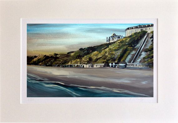 West Cliff Beach  Bournemouth. Abstract Art by LeahMcHardyART
