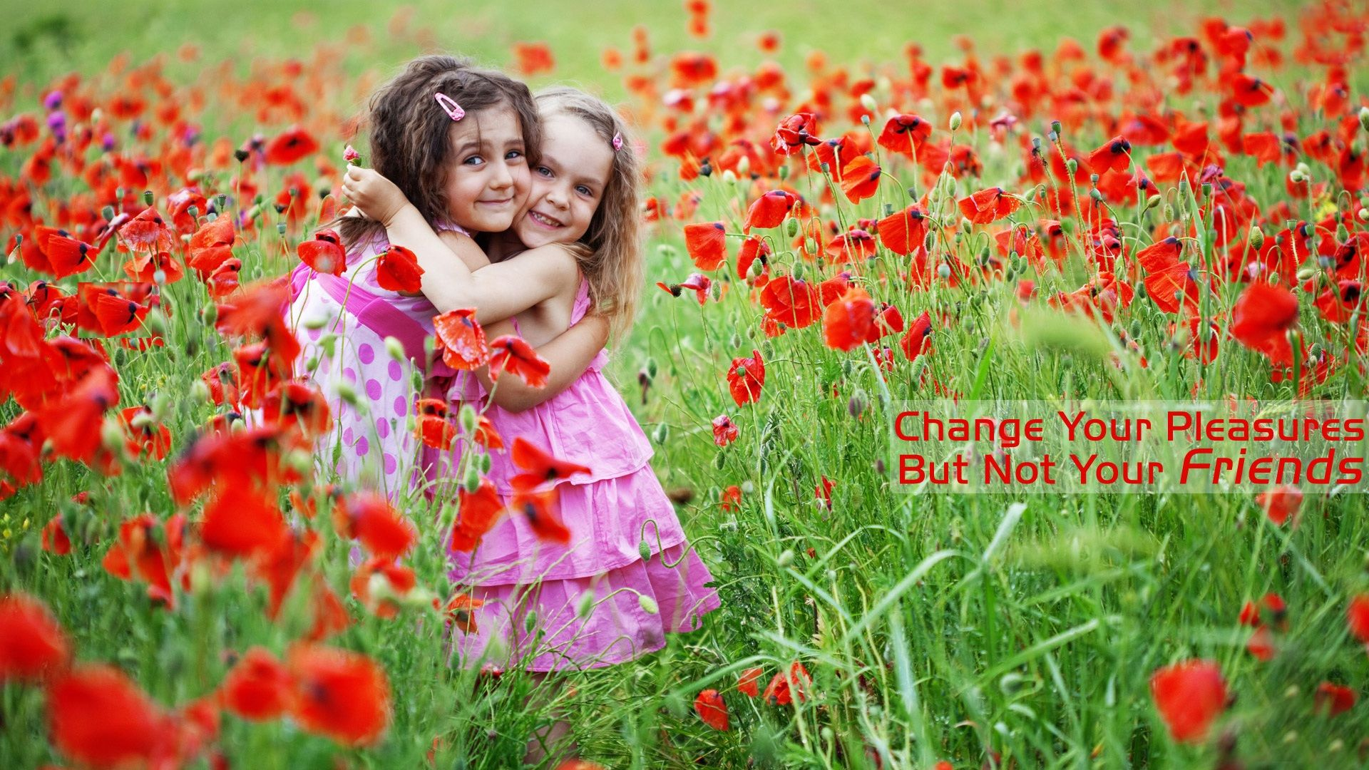 Download this cute beautiful friends HD wallpaper for free in all