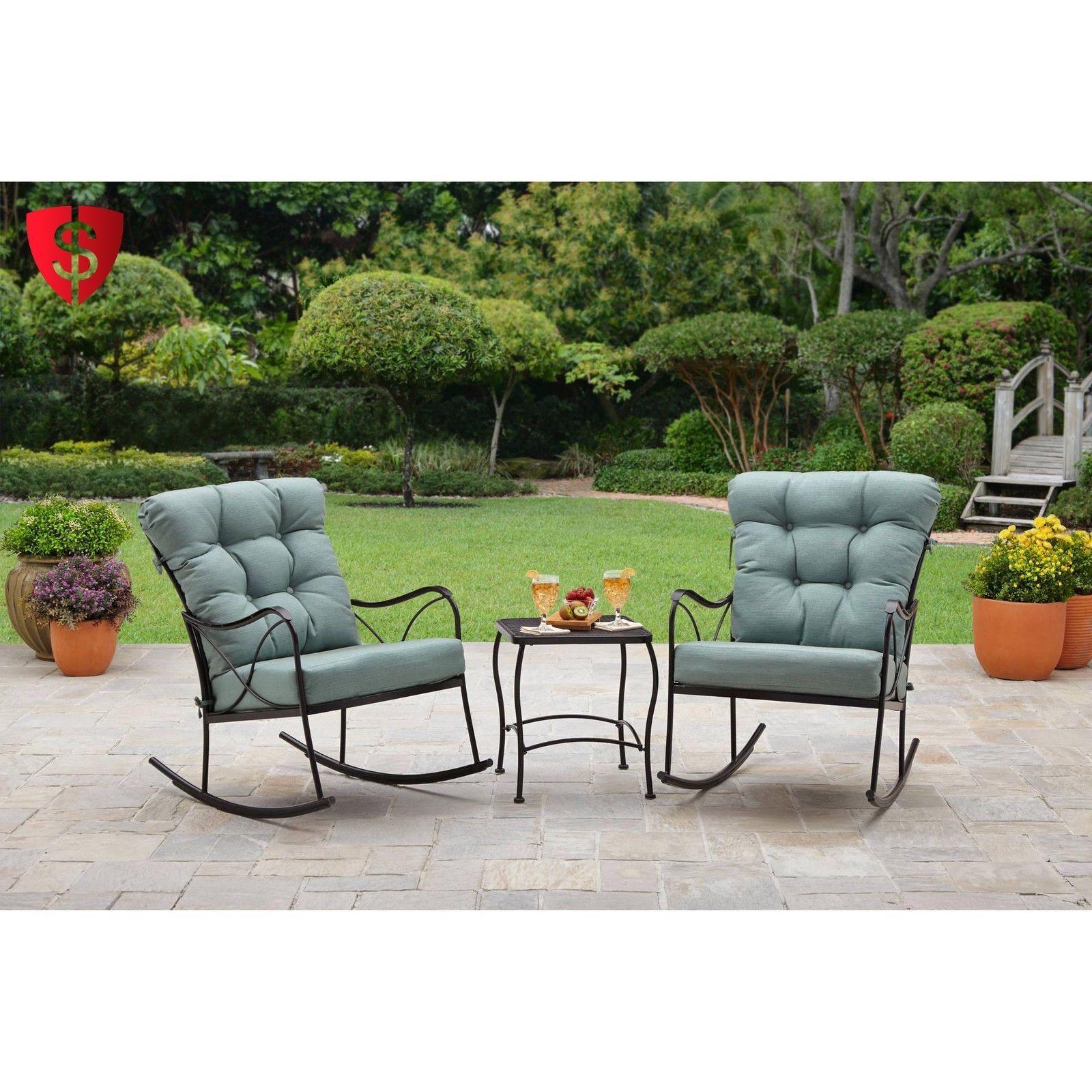 3 Piece Bistro Set Furniture Patio Table Outdoor Garden Yard 2