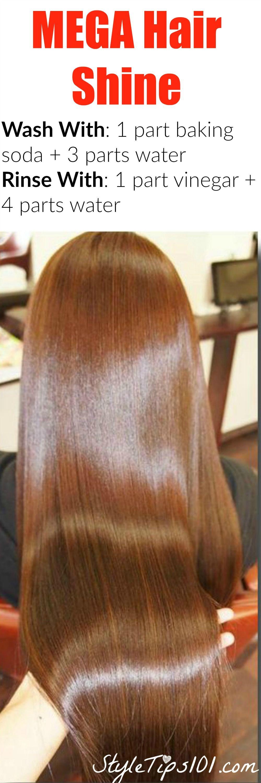 baking soda and vinegar hair wash method pinterest bright