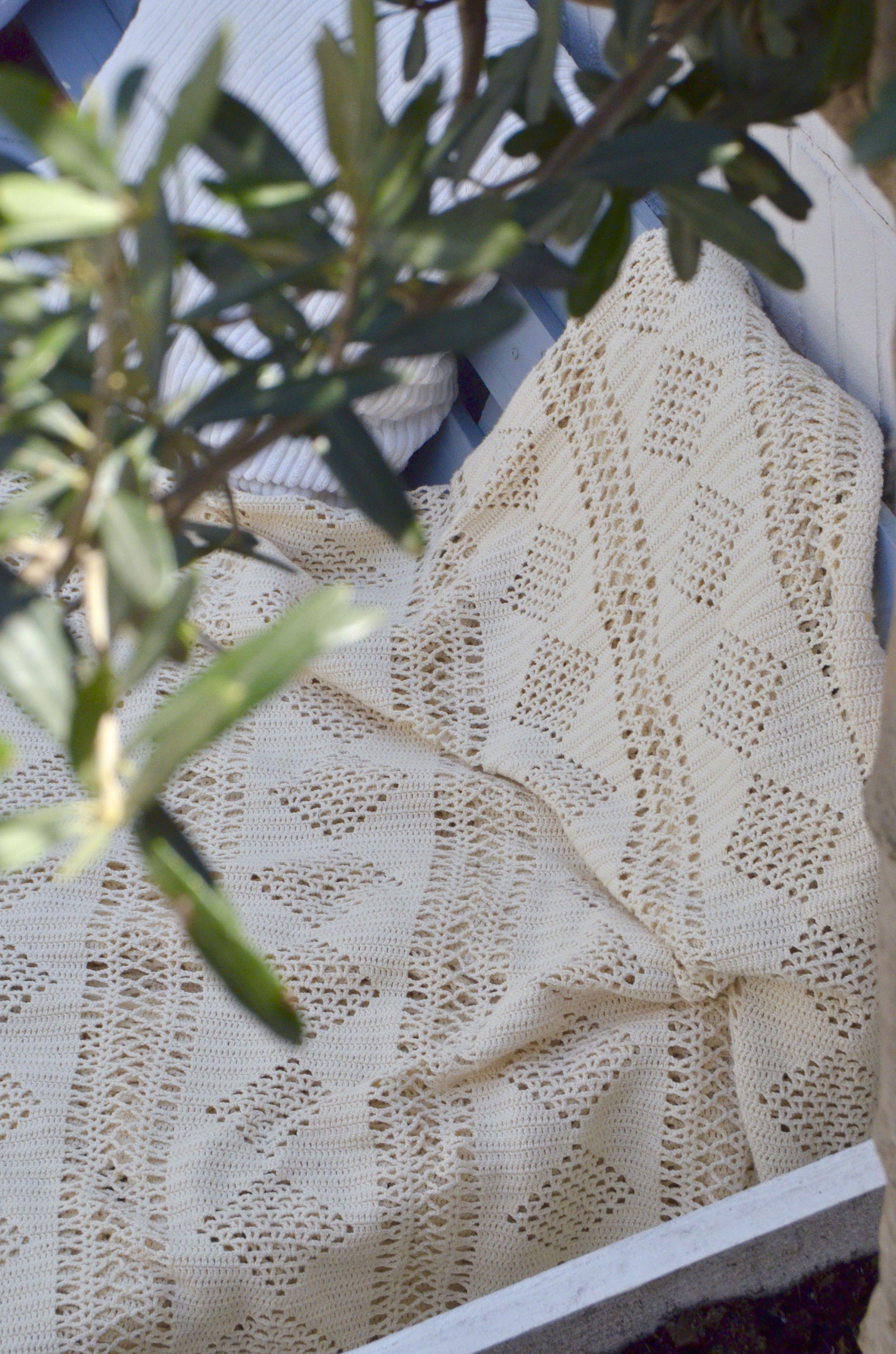 Omas Sprei Haken Dekenskussens Vloerkleed Crochet Blanket En