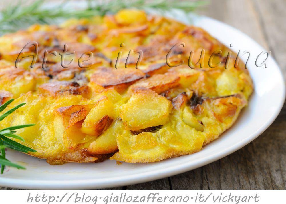 Ricetta Tortilla Spagnola Giallo Zafferano.Tortilla Di Patate E Cipolle In Padella Veloce Ricetta Ricette Patate Cibo