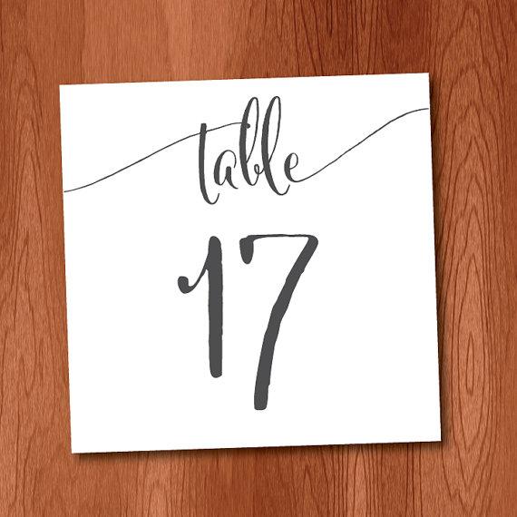Black Ink Diy Table Numbers 1 50 For Very Large Wedding
