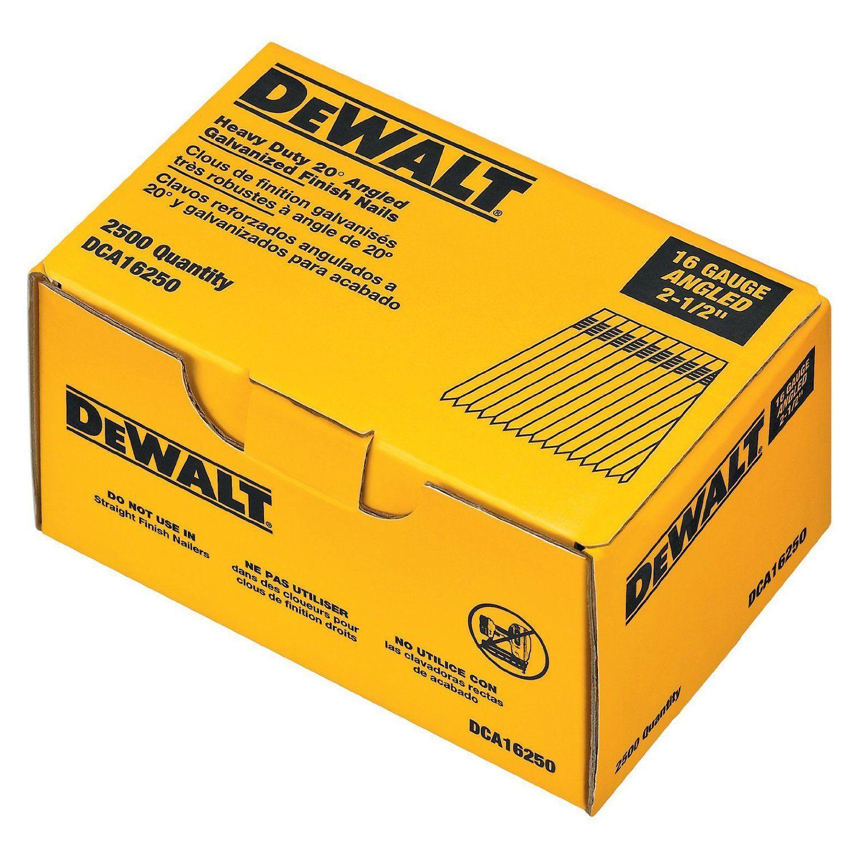 "Dewalt DCA Stick Finishing Nail 2 5"" Galvanized"