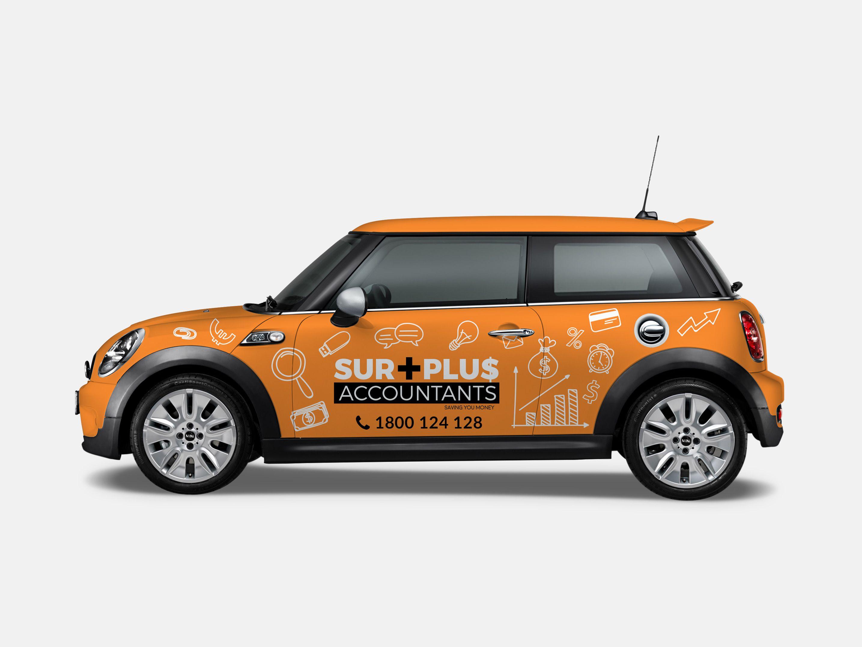 Surplus Accountants Mini Cooper Corporate Vehicle Wrap