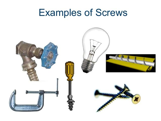 image result for examples of screw | examples of screw | pinterest
