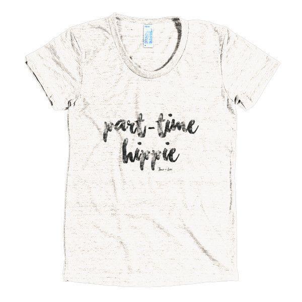 Graphic T-shirt (Women\u0027s TriBlend Track) \u0027Part-time Hippie