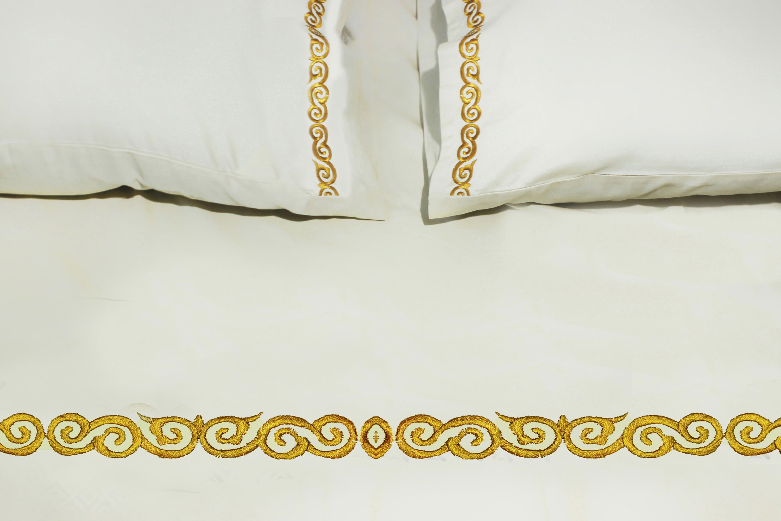 embroidery flat sheet with pillowcases cotton bedsheet queen size
