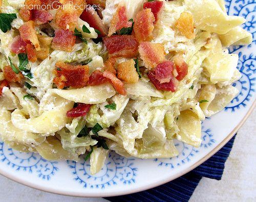Bacon Sour Cream Noodles Side Dish Recipes Bacon Recipes Recipes
