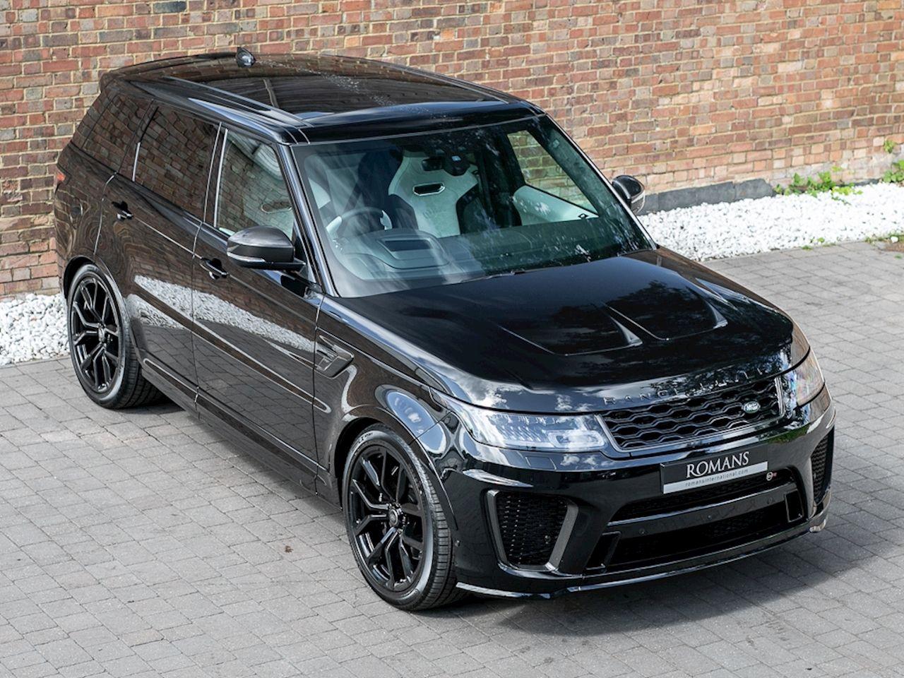 2018 Used Land Rover Range Rover Sport Svr Santorini Black Range Rover Sport Range Rover Sport Black Luxury Cars Range Rover