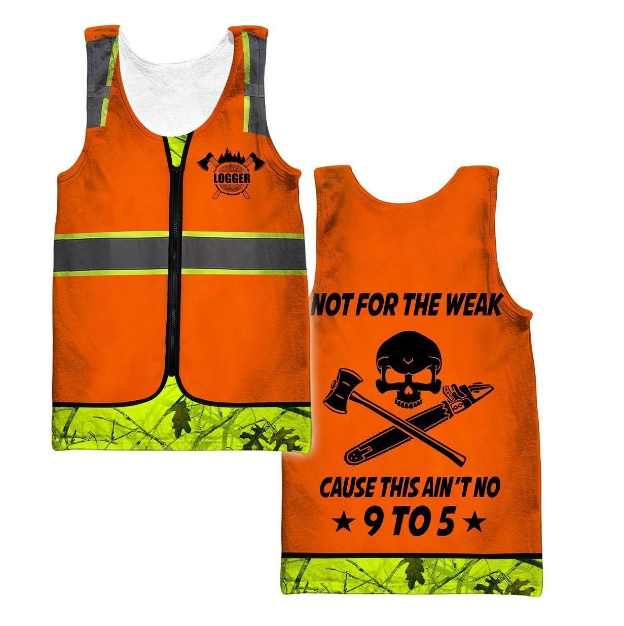 3D Chainsaw Logger Custom Name Unisex Shirts AM102055 - Men's tank top / 4XL
