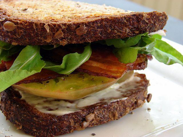 BLgT (bacon, lettuce, green tomato)