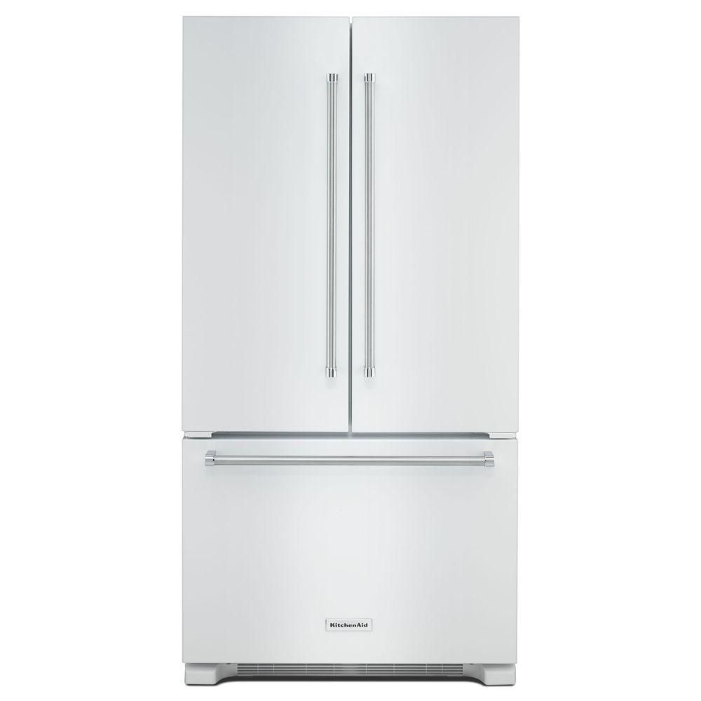 Kitchenaid 219 cu ft french door refrigerator in white