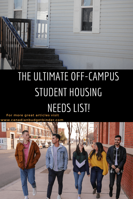 The Ultimate Off-Campus Student Housing Needs List (With ...