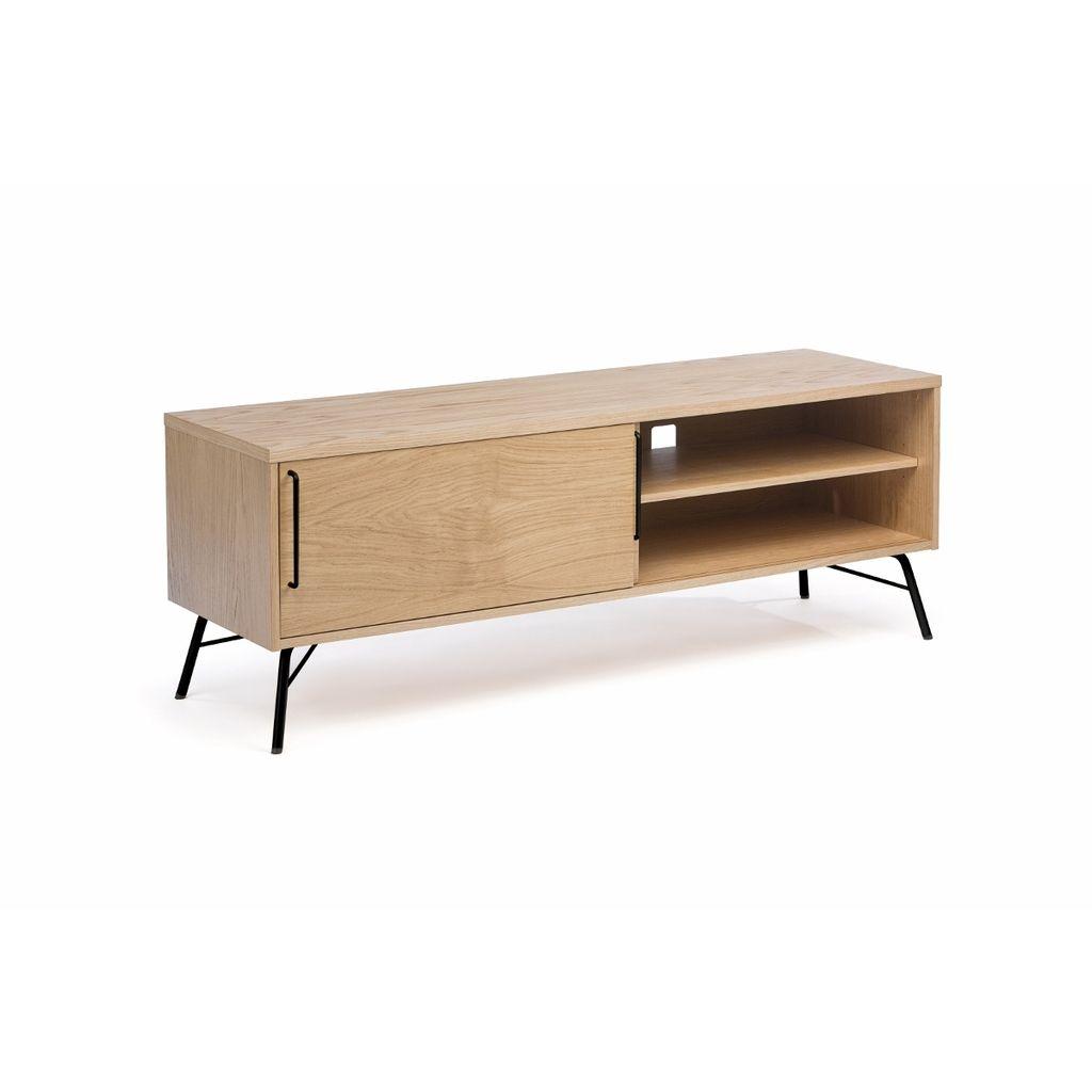 Tv Konsole Ashburn Aus Holz Metall Schwarz Tv Schrank Möbel Für Kleine Räume Tv Möbel