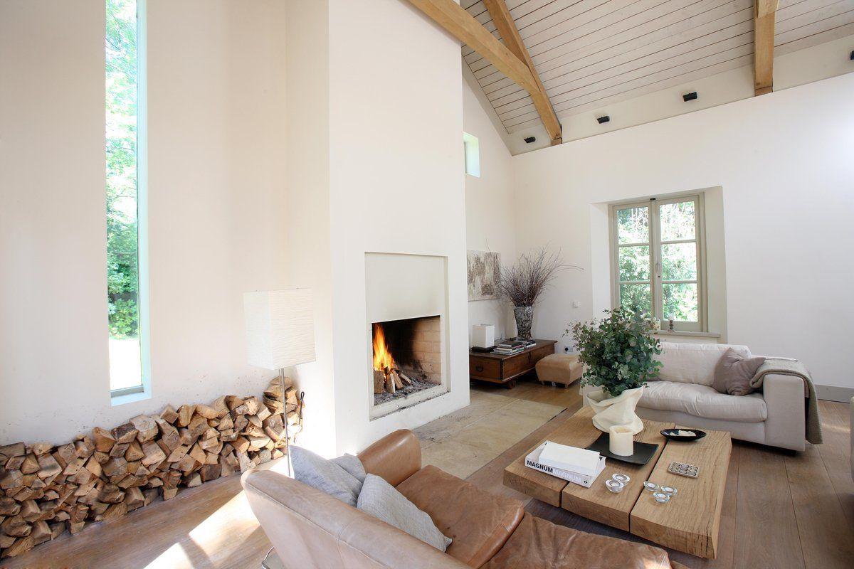 white fireplace